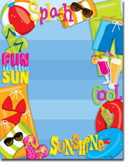 Paper So Pretty - Blank Designer Papers (Cool Summer) (DP1010)
